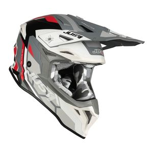 Casque cross J39 REACTOR WHITE / RED / GREY MATT 2020 White/Red/Grey