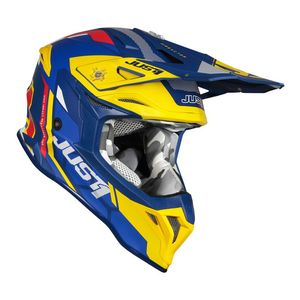 Casque cross J39 REACTOR YELLOW / BLUE MATT 2020 Yellow/Blue
