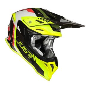 Casque cross J39 REACTOR FLUO YELLOW / RED / TITANIUM MATT 2020 Fluo Yellow/Red/Titanium