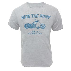 T-Shirt manches courtes RIDE THE PONY  Gris
