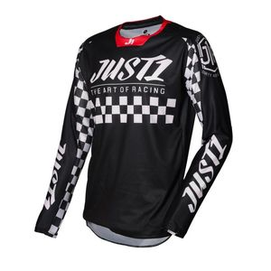 Maillot cross J-FORCE RACER BLACK / WHITE 2020 Black/White