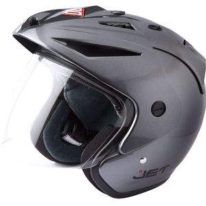Casque JET - GREY GLOSSY  Gris