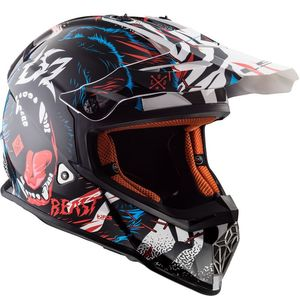 Casque cross MX437 - FAST BEAST 2019 Black / White