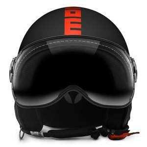 Casque FIGHTER FLUO  Noir/Orange fluo