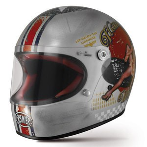 Casque TROPHY - PIN UP OLD STYLE  Silver