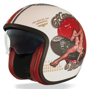 Casque VINTAGE - PIN UP  Blanc