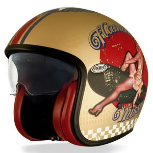 Casque VINTAGE - PIN UP - GOLD  Gold