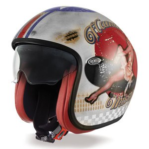 Casque VINTAGE - PIN UP OLD STYLE  Silver