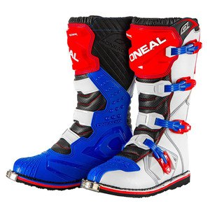 Bottes cross RIDER - BLUE RED WHITE 2020 Bleu/Blanc/Rouge