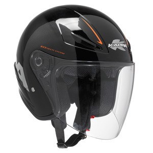 Casque Kappa Kv3 Orange / Noir Brillant