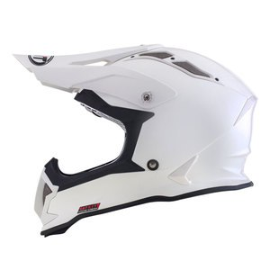 Casque Cross Kyt Strike Eagle Plain Blanc 2017
