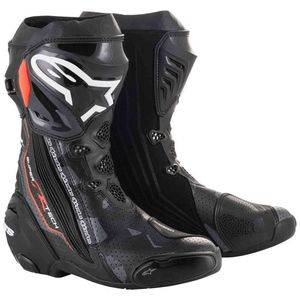Bottes SUPERTECH R BOOT  Black Dark Gray Red Fluo