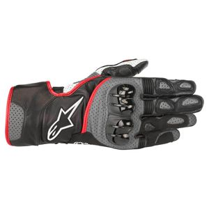 Gants SP-2 V2  Black/Gray/Red Fluo