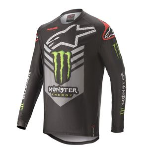 Maillot cross RACER GEAR - MONSTER - BLACK BRIGHT GREEN RED 2020 Black Green RED