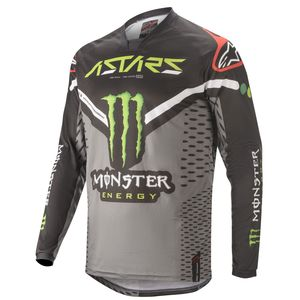 Maillot cross RAPTOR - MONSTER - BLACK GRAY BRIGHT GREEN 2020 Black Gray Green