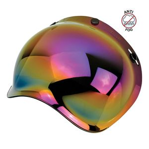 Ecran casque BUBBLE MIRROR - GRINGO  Rainbow