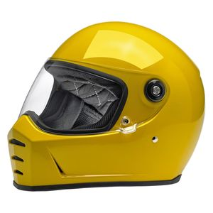 Casque LANE SPLITTER - COLOR GLOSS  SAFE T-YELLOW