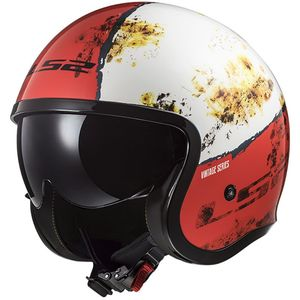Casque OF599 - SPITFIRE - RUST  Blanc/Rouge
