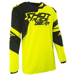 Maillot Cross Shot Destockage Contact Claw Neon Jaune 2017