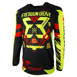 Maillot Cross Shot Destockage Contact Trooper Neon Jaune Rouge 2017