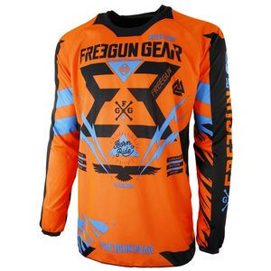 Maillot Cross Shot Destockage Contact Trooper Neon Orange Cyan 2017