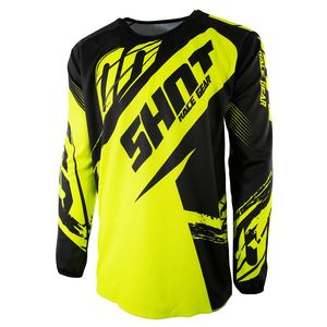Maillot Cross Shot Destockage Devo Fast Neon Jaune Enfant 2017