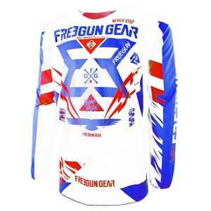 Maillot Cross Shot Destockage Devo Trooper Bleu Rouge Enfant 2017