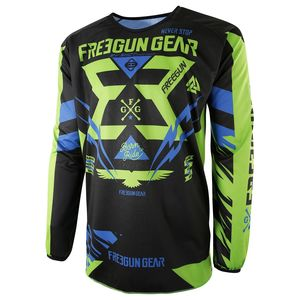 Maillot Cross Shot Destockage Devo Trooper Neon Vert Bleu Enfant 2017