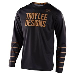 Maillot cross TroyLee design GP - PINSTRIPE - BLACK GOLD 2020