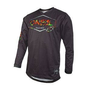 Maillot cross O'Neal MAHALO - LUSH - BLACK MULTI 2021