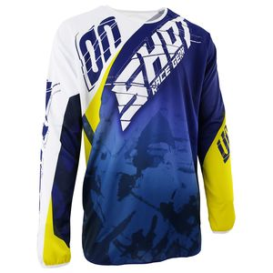 Maillot Cross Shot Destockage Devo Squad Bleu Jaune 2017