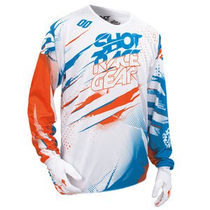 Maillot cross DEVO CAPTURE JERSEY BLANC ORANGE  2016 Blanc/Orange