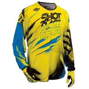 Maillot Cross Shot Destockage Devo Capture Jersey Jaune Bleu 2016