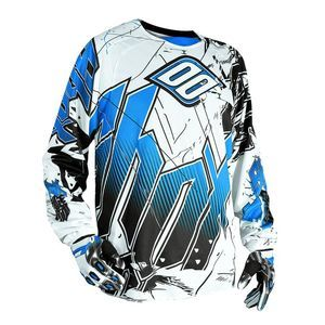 Maillot Cross Shot Destockage Flexor Impact Blanc Bleu