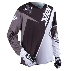 Maillot cross FLEXOR MAROON ML  BLACK SILVER 2015 Noir/Gris