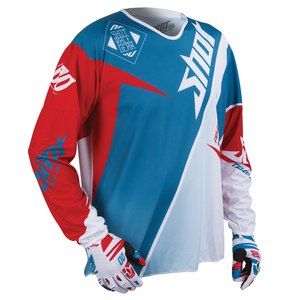 Maillot Cross Shot Destockage Flexor Maroon Ml Red Turquoise 2015