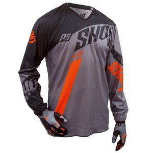 Maillot cross FLEXOR SYSTEM JERSEY GRIS ORANGE   Gris/orange