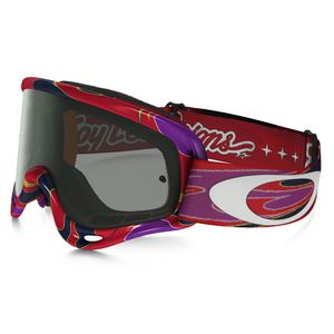 Masque Cross Oakley Xs O Frame Mx - Troy Lee Designs Reflection Orange Purple Lens Dark Grey 2016