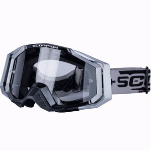 Masque Cross Scorpion Exo Silver - Black 2018