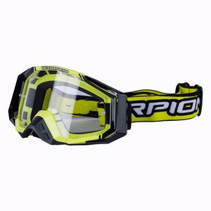 Masque Cross Scorpion Exo Neon Yellow - Black 2018