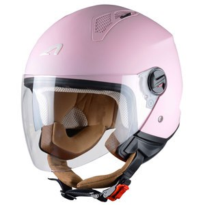 Casque MINIJET - MONOCOLOR -PINK  Rose Mat