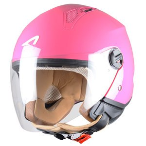 Casque MINIJET - MONOCOLOR -PINK  Rose