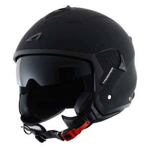 Casque MINIJET TROOPER MONOCOLOR MATT  Noir mat