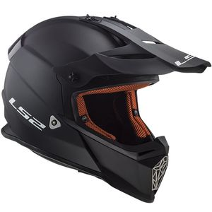 Casque cross MX437 - SOLID - MATT BLACK 2019 MATT BLACK