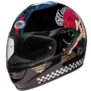 Casque MONZA PIN UP  Noir