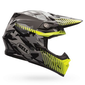 Casque cross MOTO-9 - CAMO YELLOW 2017 Gris/Jaune