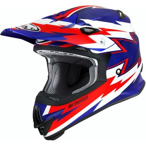 Casque cross MR JUMP - RAINSTORM 2021 Blue White Red