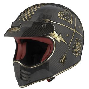 Casque MX - CARBON - NX GOLD CHROMED  Carbone