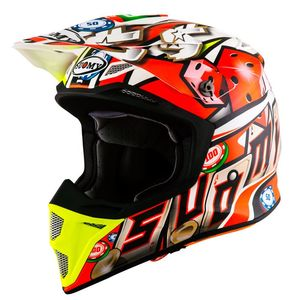 Casque cross MX SPEED - ALL IN 2019 Red Yellow Blue