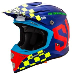 Casque cross MX SPEED - MASTER - MULTI COLOR 2019 Blue Yellow Red